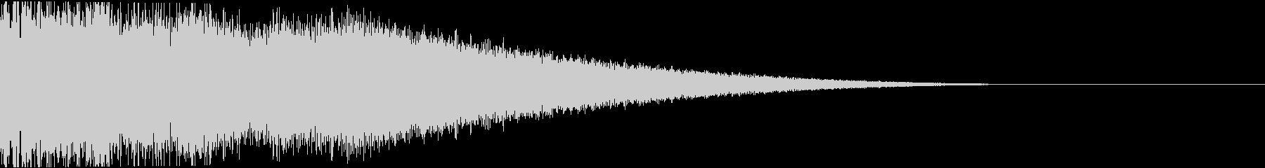 ピコーン:当たり・衝撃・ヒットbの未再生の波形
