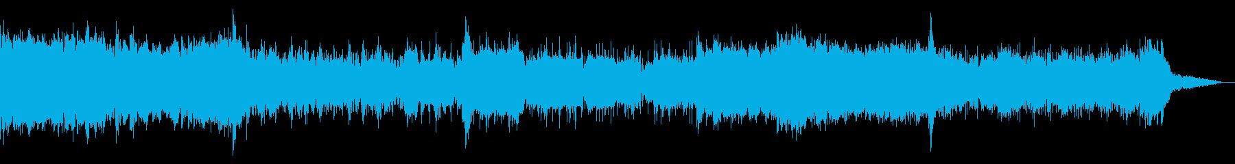 グリッジの効いたシネマティックIDMの再生済みの波形