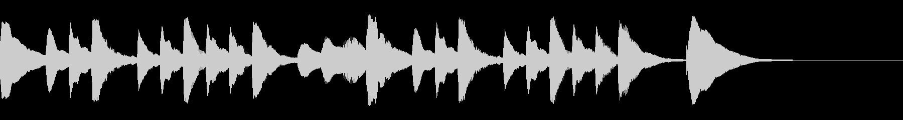 マリンバジングル9 のんびりほのぼのの未再生の波形