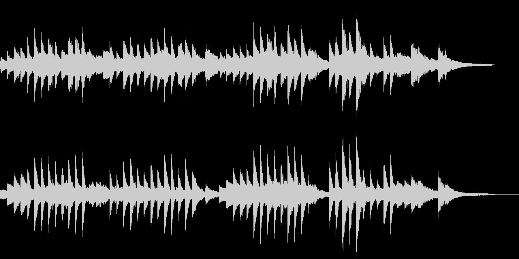 ヨナ抜き音階の涼しく美しいピアノジングルの未再生の波形