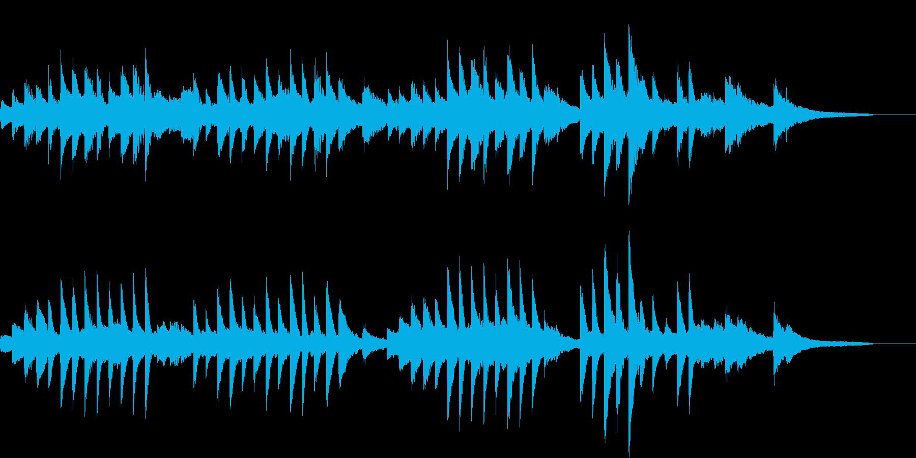 ヨナ抜き音階の涼しく美しいピアノジングルの再生済みの波形