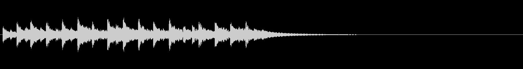 ハンドベルが鳴るの未再生の波形