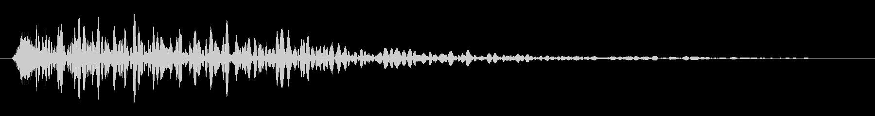 落ちた時の効果音の未再生の波形