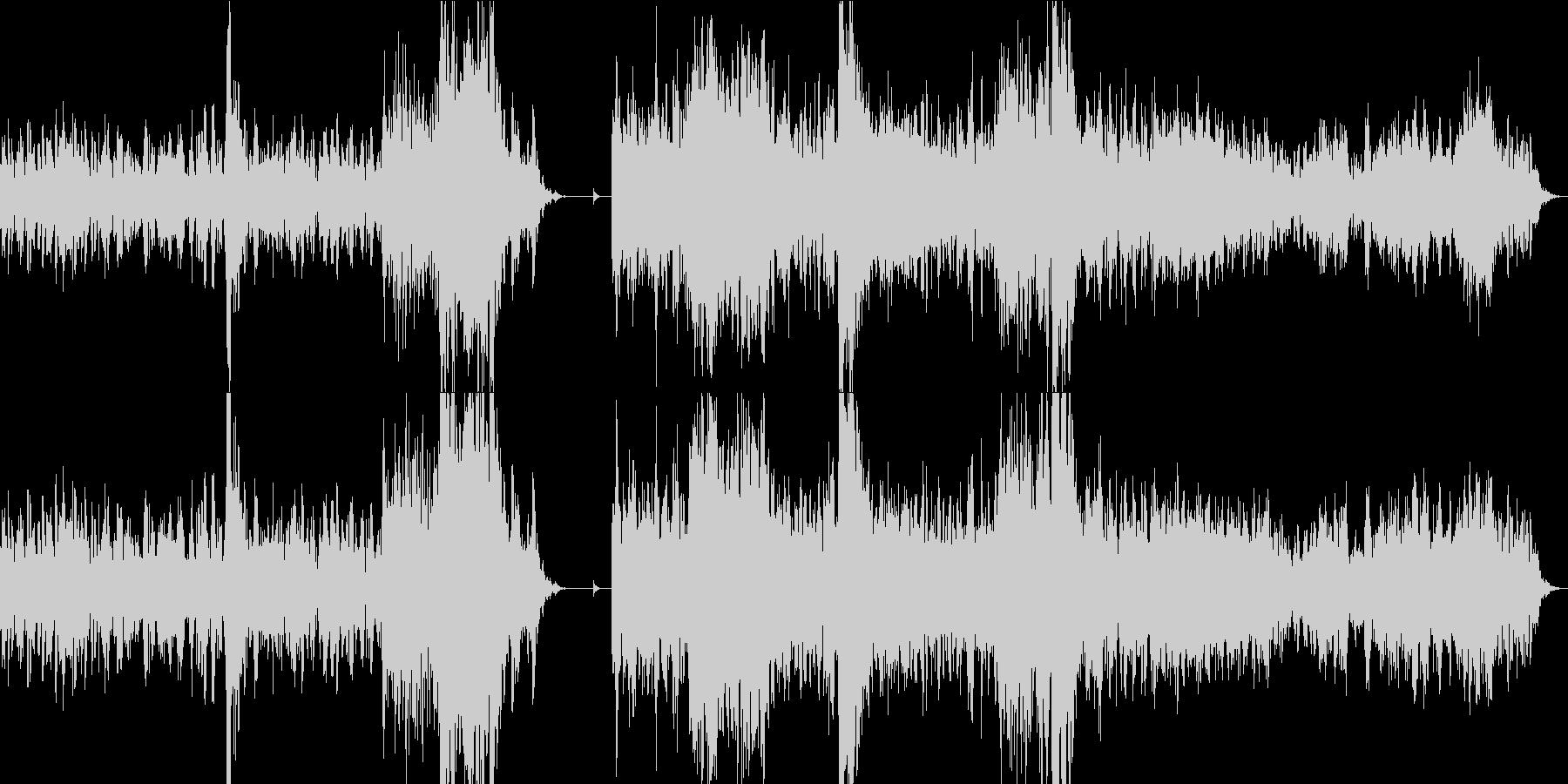 乾いた不気味なBGMの未再生の波形