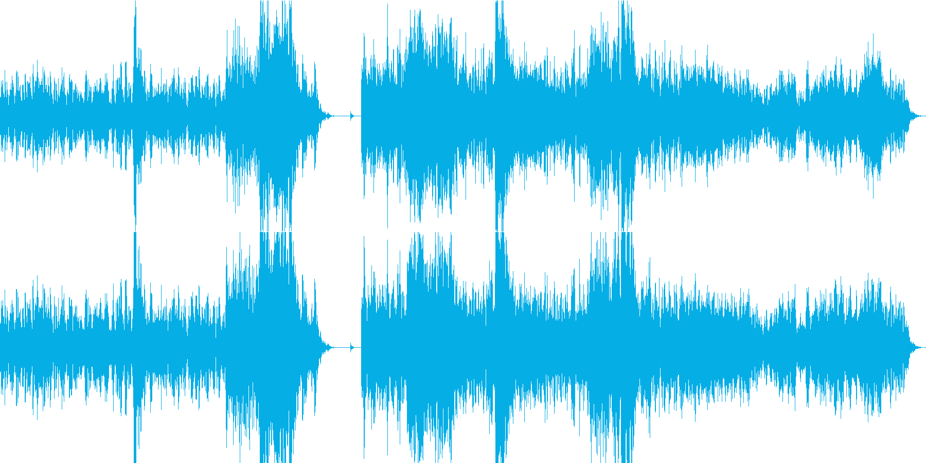 乾いた不気味なBGMの再生済みの波形