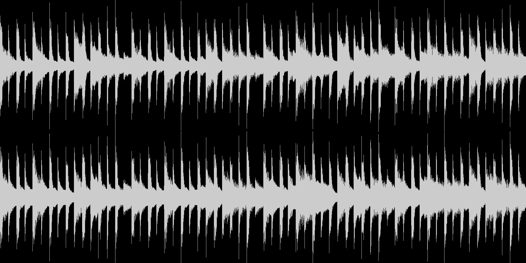 4つ打ちと軽快なピアノ。ループ可能。の未再生の波形