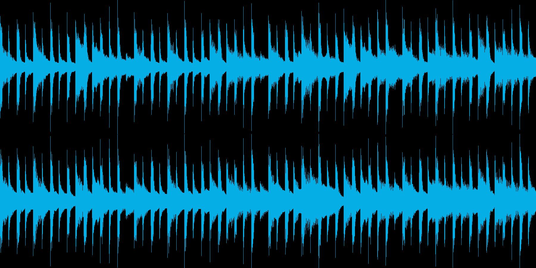 4つ打ちと軽快なピアノ。ループ可能。の再生済みの波形