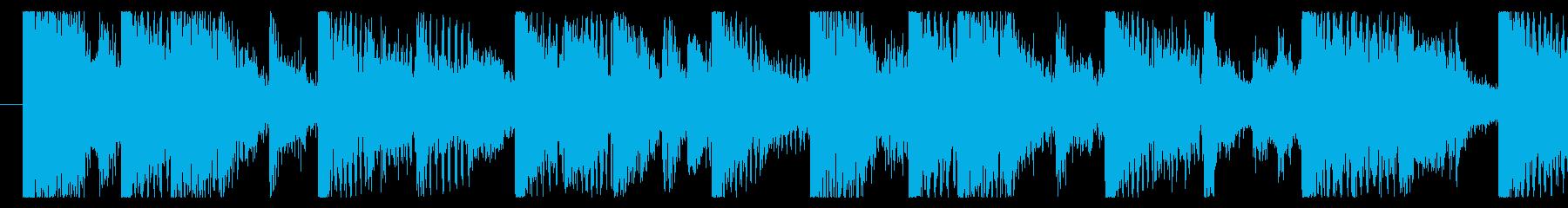 気分の上がるファンクロック-ループ3の再生済みの波形