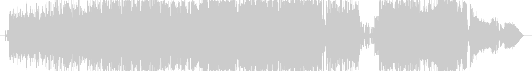 強いビートうねるギターアグレッシヴピアノの未再生の波形