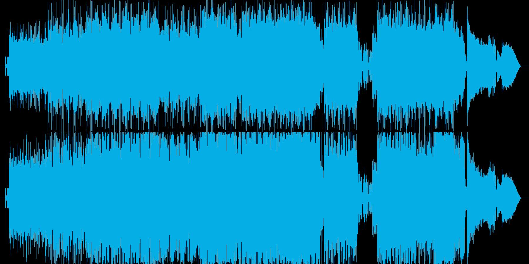強いビートうねるギターアグレッシヴピアノの再生済みの波形
