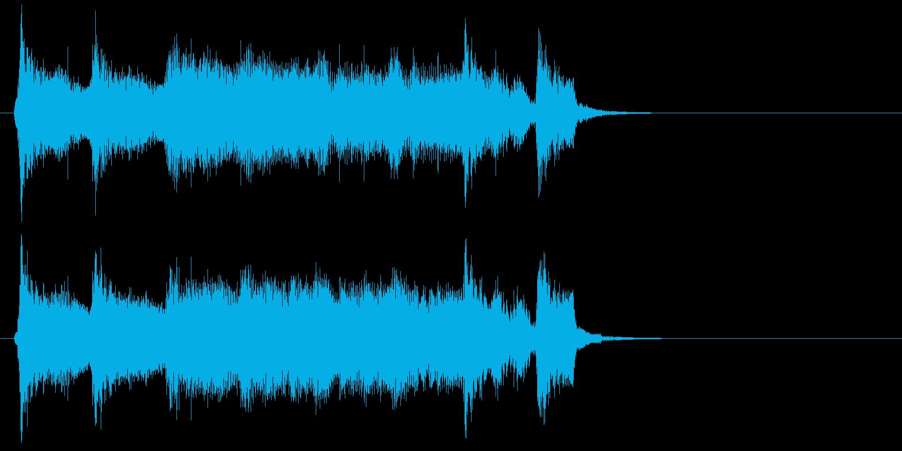 明るく可愛らしいアイリッシュ系ジングルの再生済みの波形