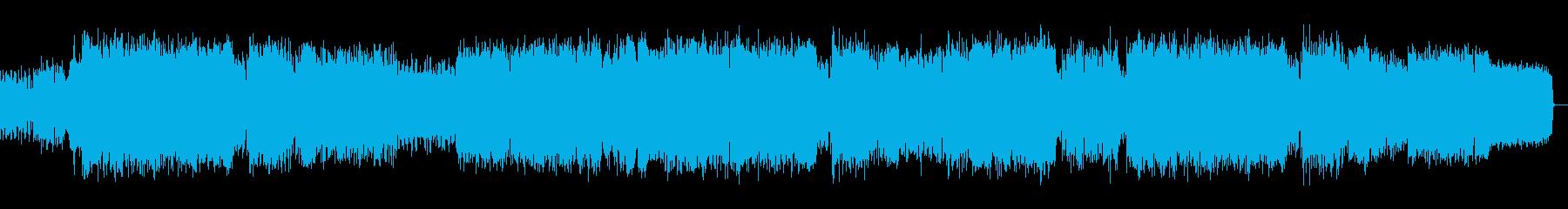 ポジティブでROCKな楽曲の再生済みの波形