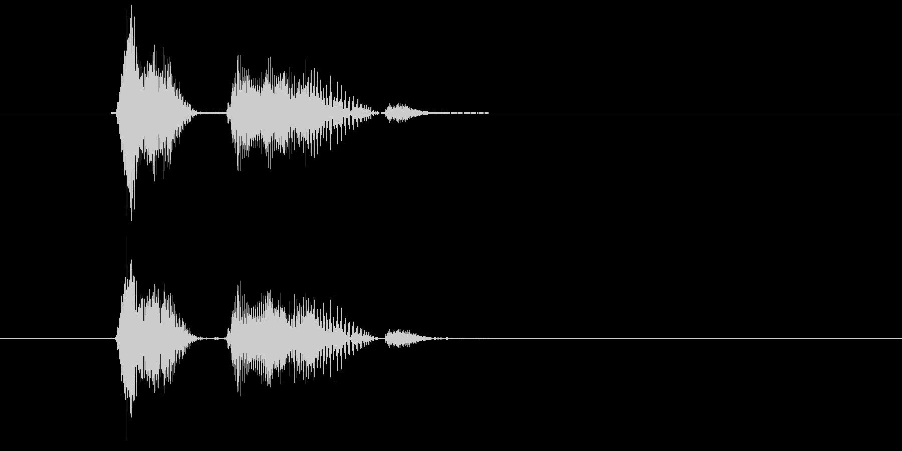 Check pointの未再生の波形