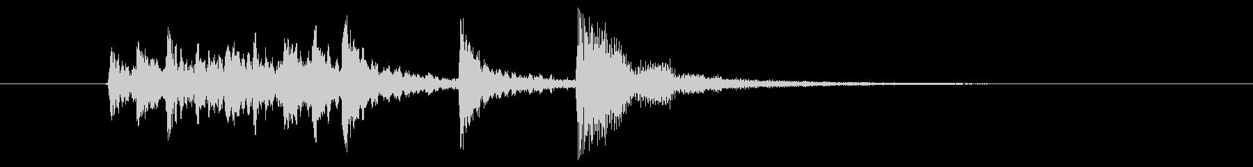 爽やかな木琴サウンド(ジングル、転換)の未再生の波形