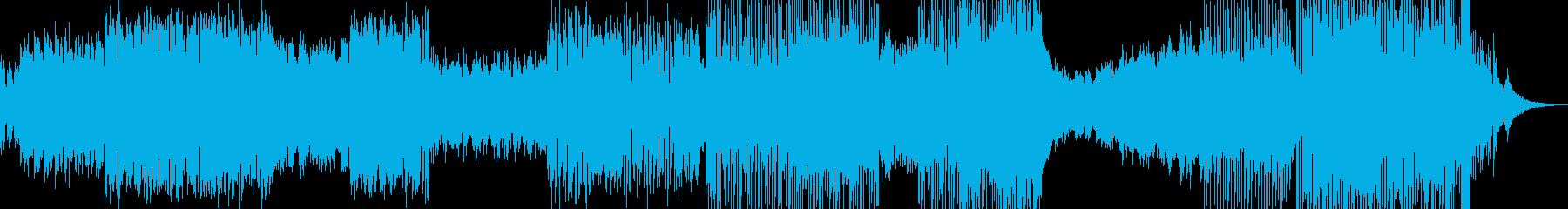 癒し系RPG・後半から打楽器のリズムの再生済みの波形