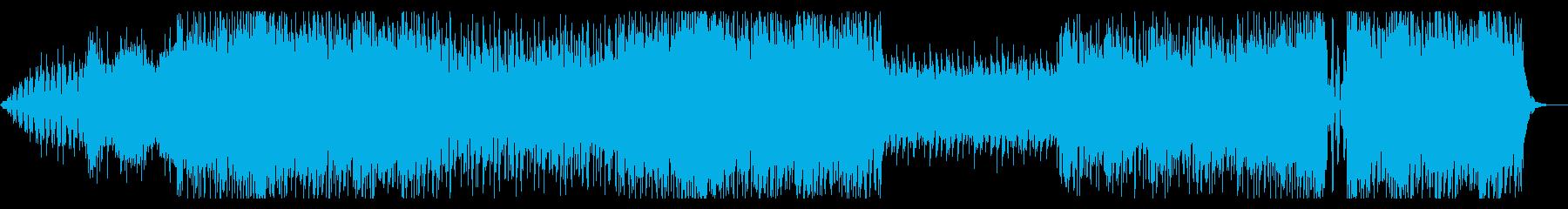 テンション上がるエレクトロミュージックの再生済みの波形