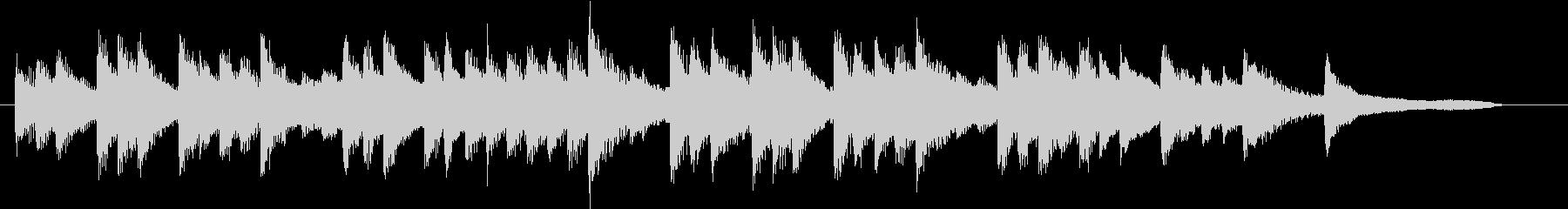 ジングルベルモチーフのピアノジングルBの未再生の波形
