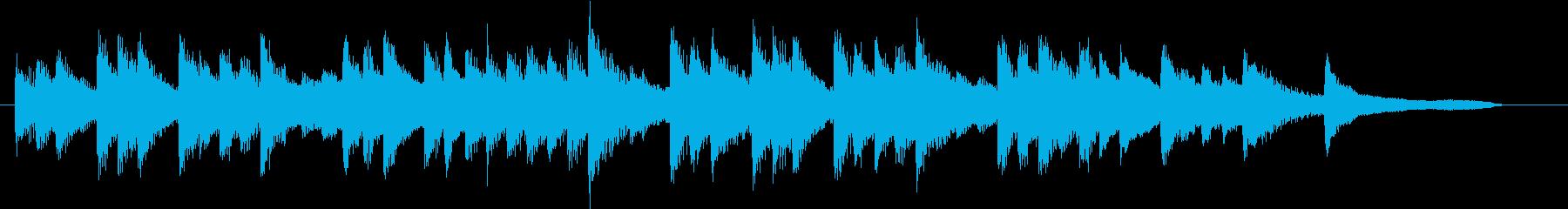 ジングルベルモチーフのピアノジングルBの再生済みの波形