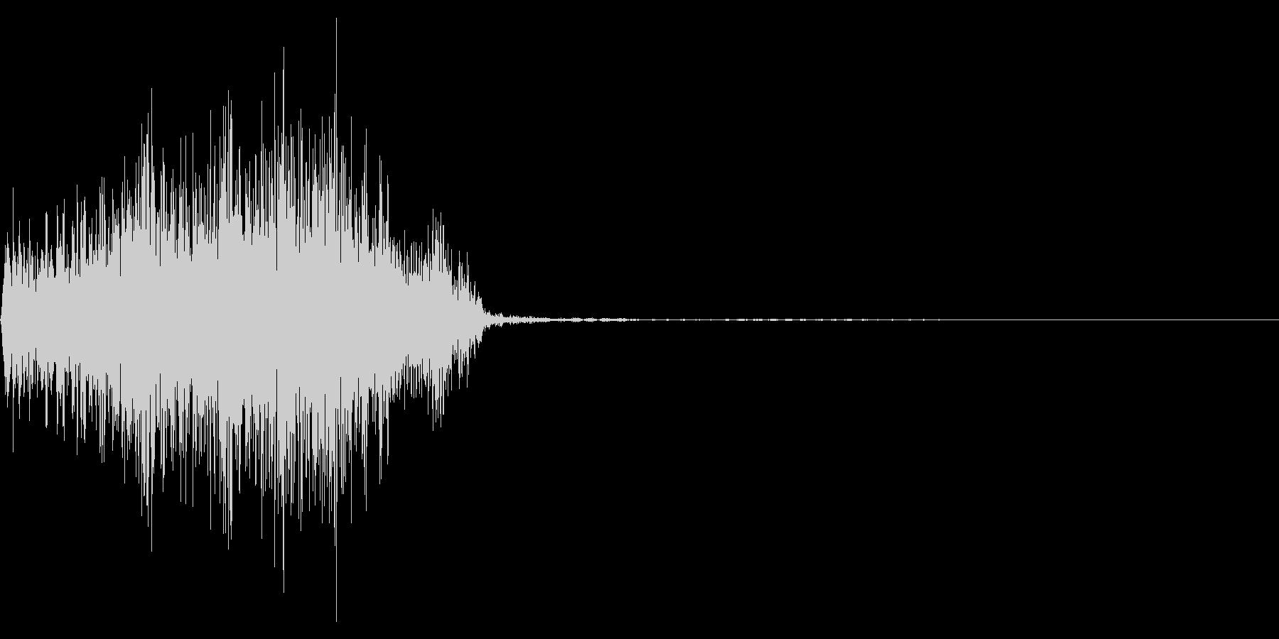 ジッパー、ファスナーを開ける音1-3の未再生の波形