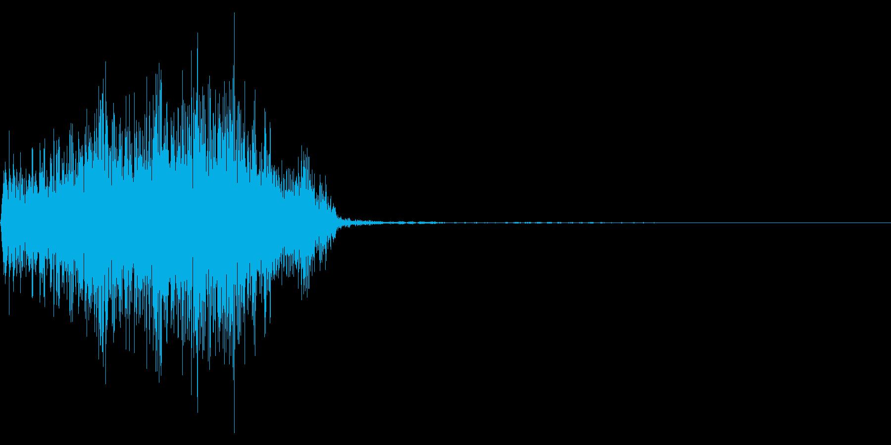 ジッパー、ファスナーを開ける音1-3の再生済みの波形