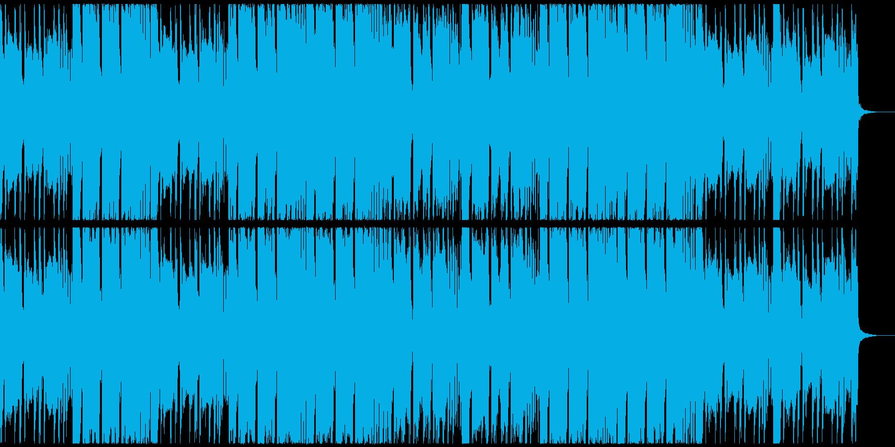 クラップとギターの力強いデジタルロックの再生済みの波形
