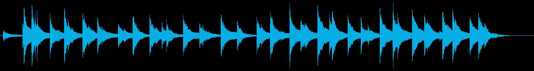 デュアルカウベル:絶え間ない揺れ、...の再生済みの波形