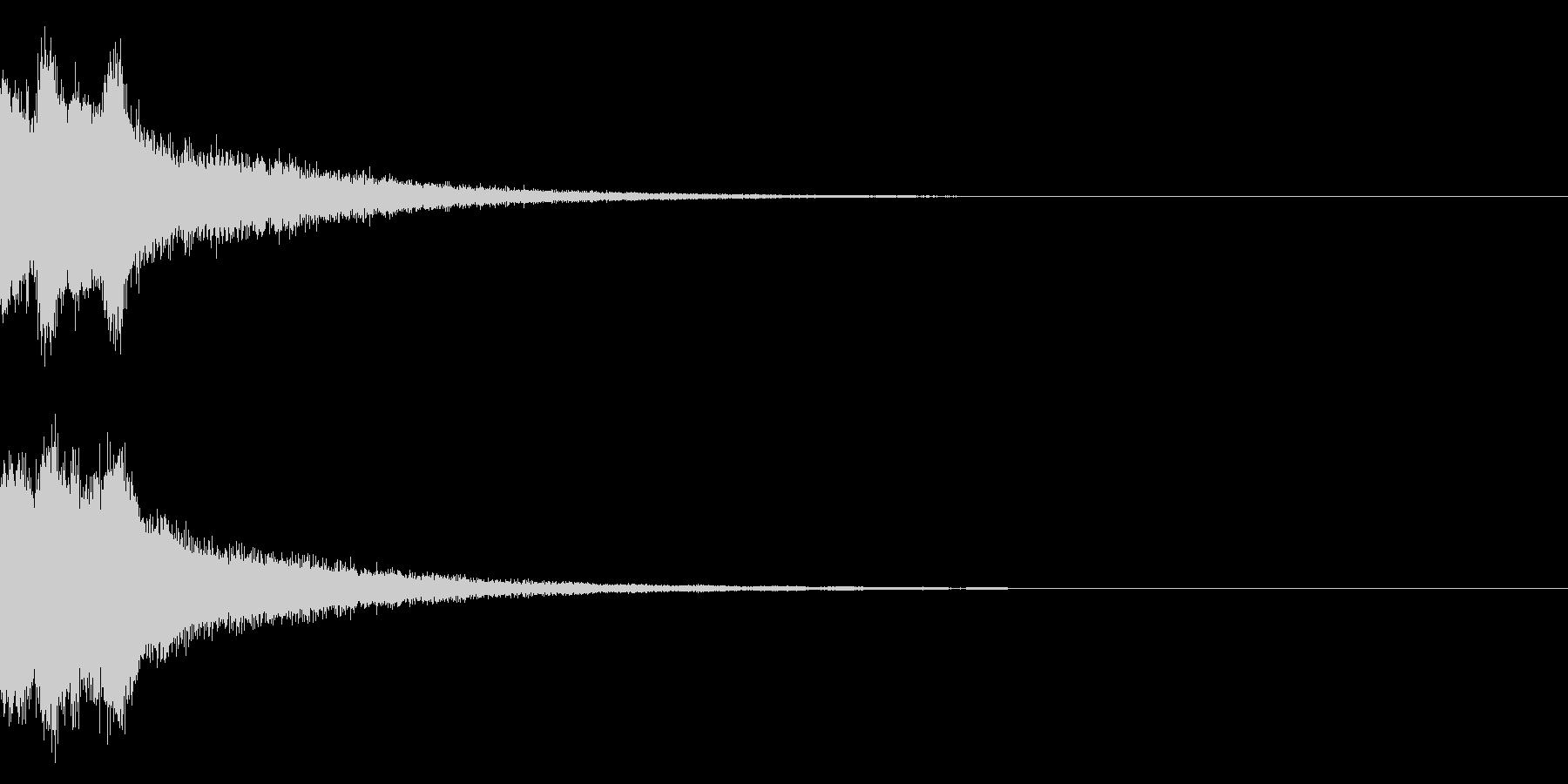ピンポンピンポン!キラキラ光る正解音02の未再生の波形