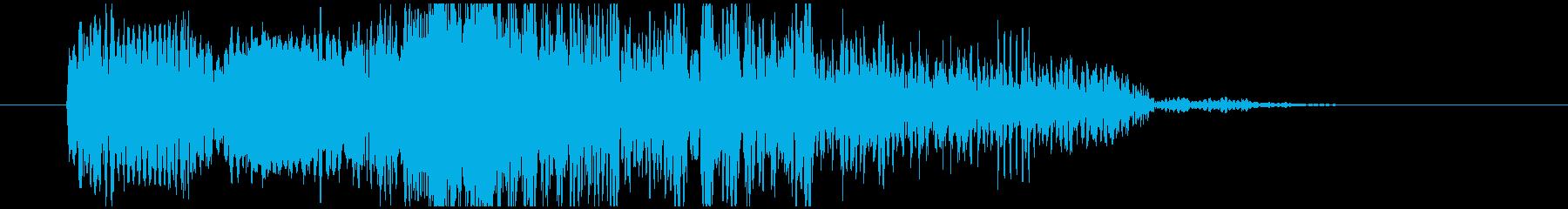 キュイーンドカーン!(レーザーと爆発音)の再生済みの波形