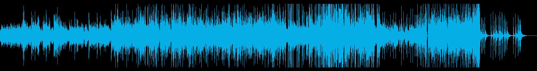 ゆったりアコースティックなピアノインストの再生済みの波形
