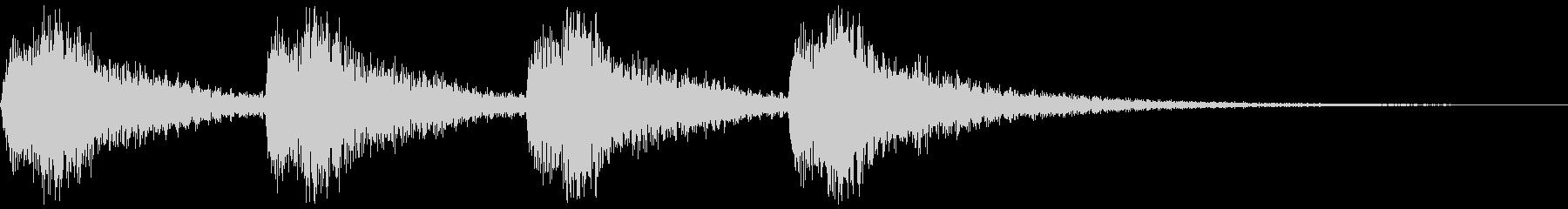 ガラーンx4(チャペルの鐘の音)の未再生の波形