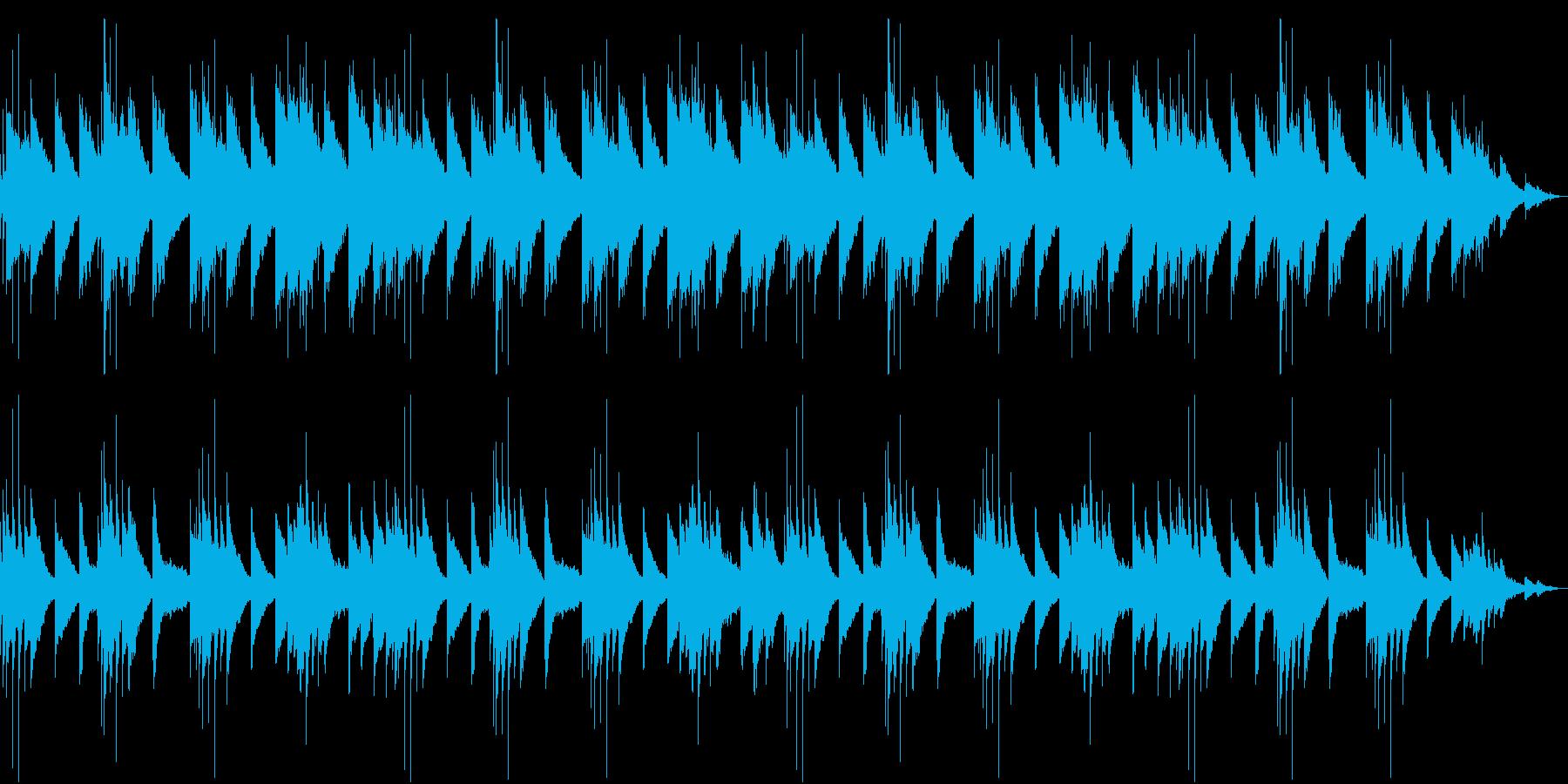 ピアノが主旋律の綺麗なBGM。ピアノの再生済みの波形