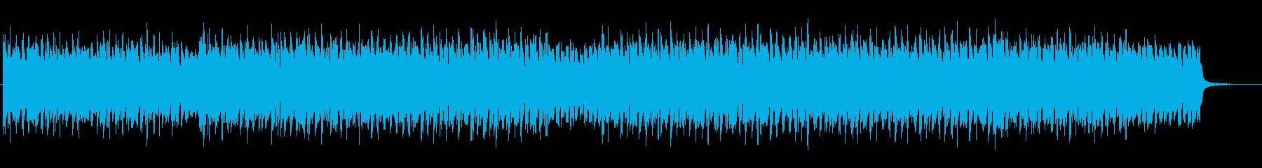 ベースフレーズが目立つテクノBGMの再生済みの波形