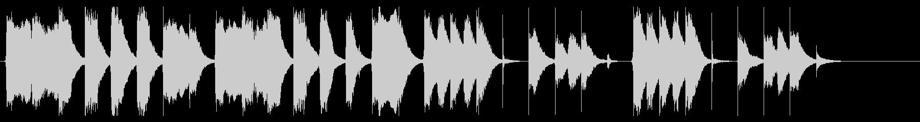 コミカルでおとぼけな、ほのぼのジングルの未再生の波形