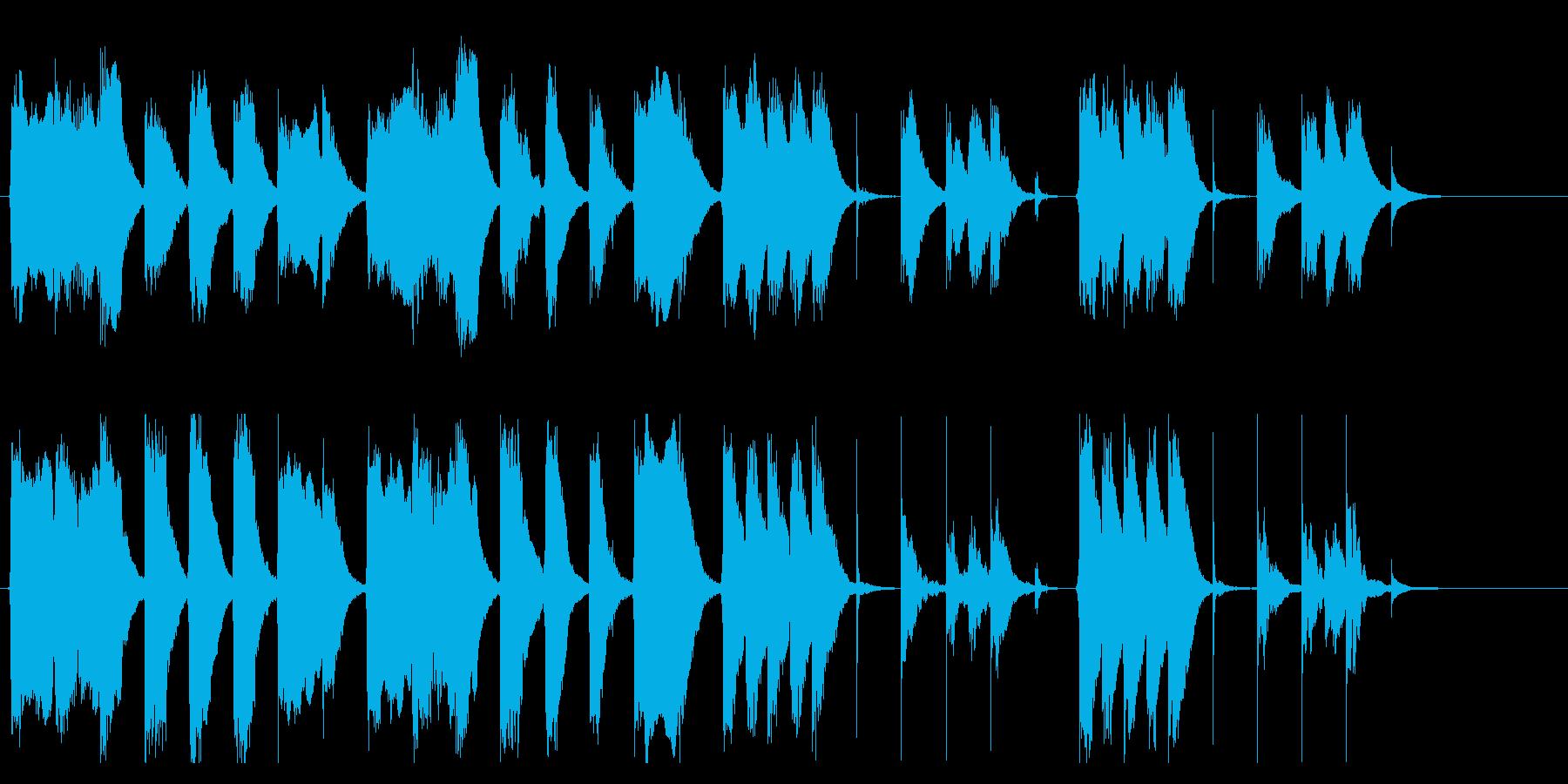 コミカルでおとぼけな、ほのぼのジングルの再生済みの波形