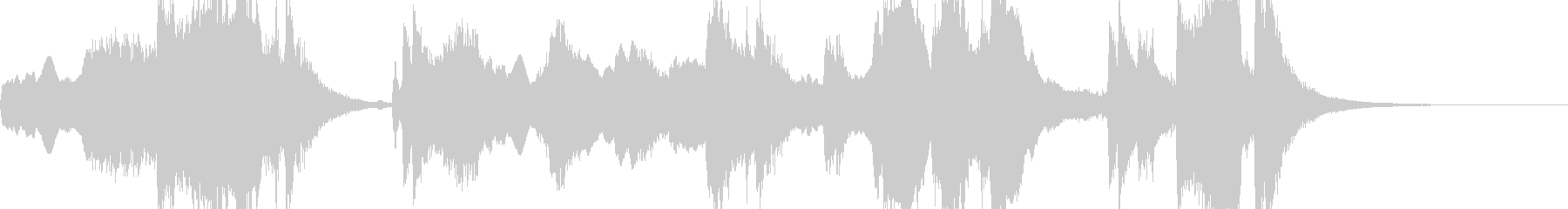 壮大なイメージのオーケストラの曲の未再生の波形
