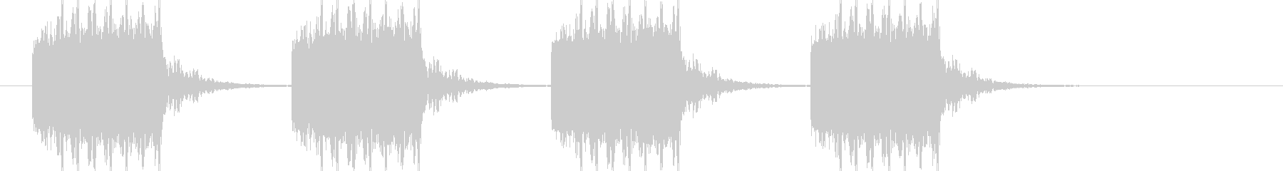 ブザー音ショート_リバーブ付きの未再生の波形