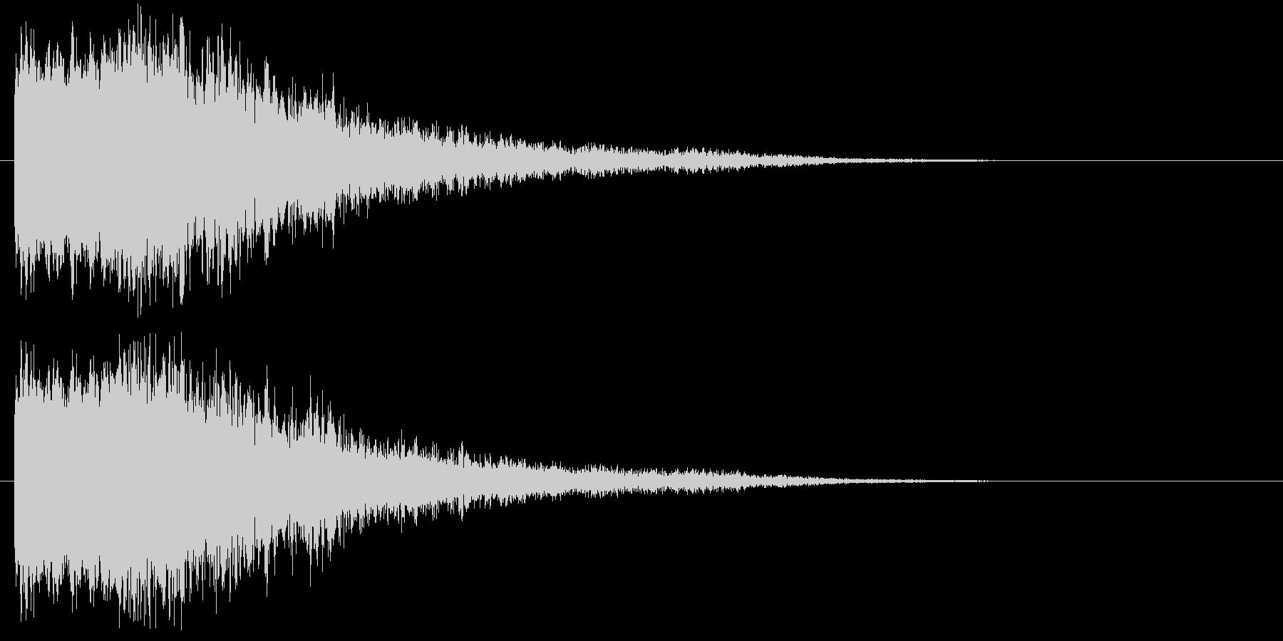 上昇光りインパクトの未再生の波形