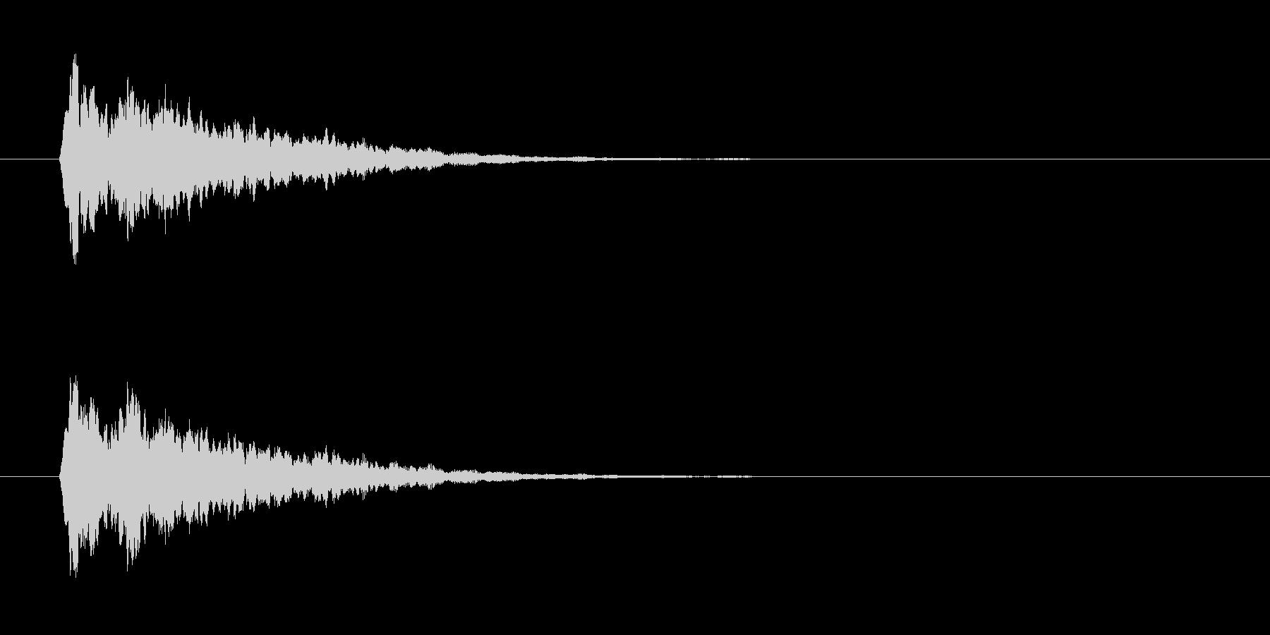 きらーん音の未再生の波形