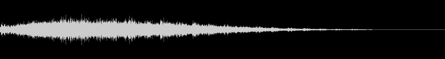 キラキラしたテロップ音(スレイベル付き)の未再生の波形