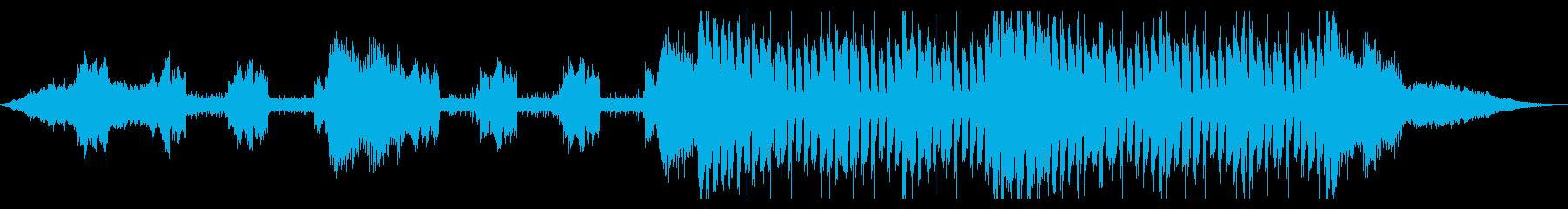 無機質、機械的、かっこいいテクスチャーの再生済みの波形