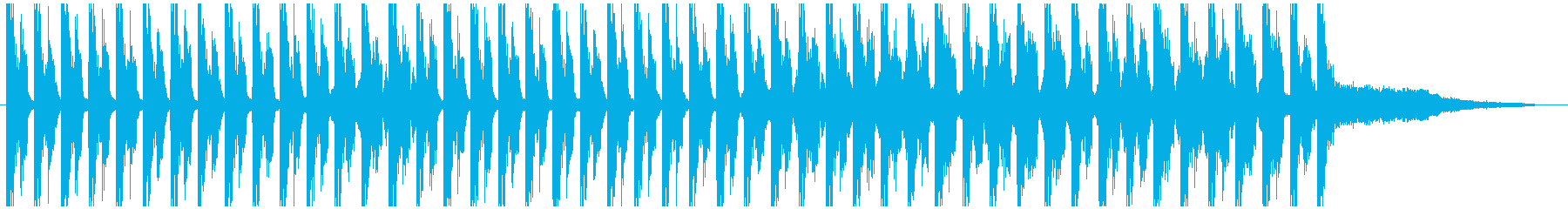 ロボティックな不安を抱かせる30秒の曲の再生済みの波形