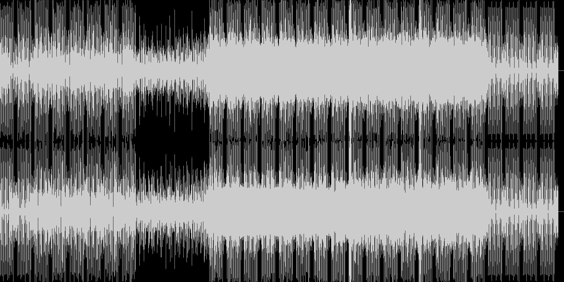 最先端の科学をイメージ。テクノ系サウンドの未再生の波形