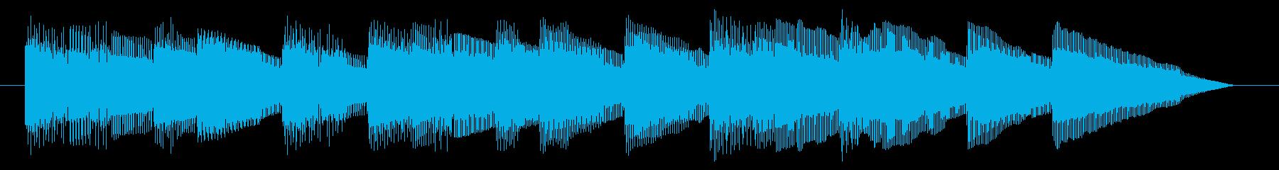 GB風東洋ボードゲームのジングルの再生済みの波形