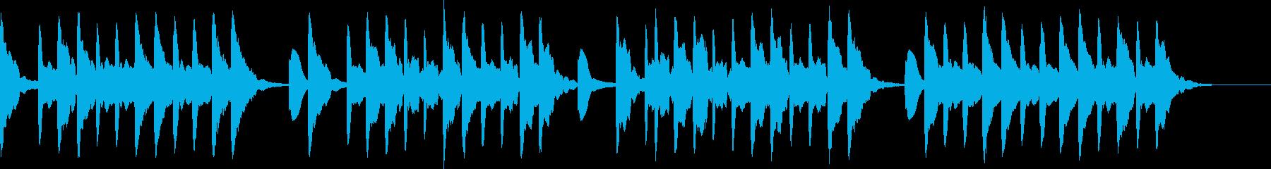 夕焼け小焼け ベル  夕方の時報の再生済みの波形