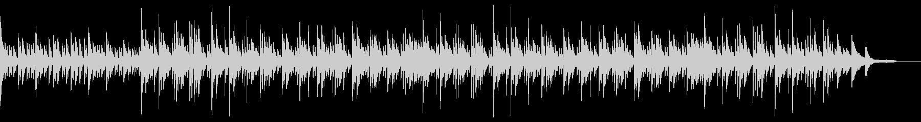 シンプルで穏やかなピアノBGMの未再生の波形
