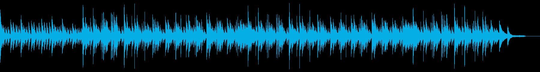 シンプルで穏やかなピアノBGMの再生済みの波形