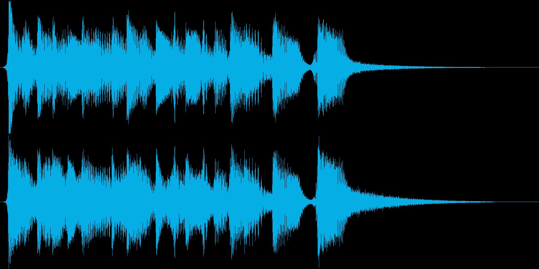 ジングル 軽いラテンの再生済みの波形