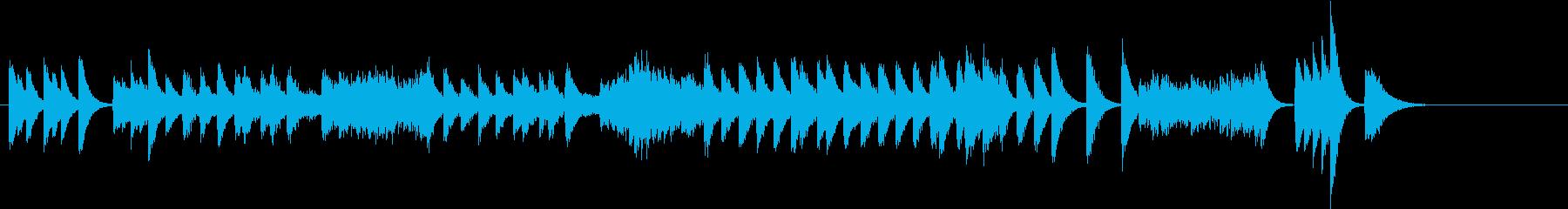 スピード感のある軽快運動会ピアノジングルの再生済みの波形