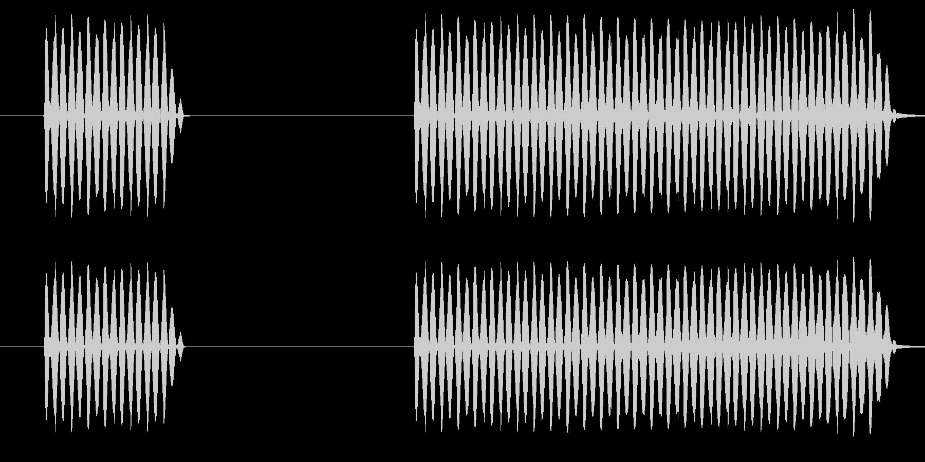 ゲーム、クイズ(ブー音)_006の未再生の波形