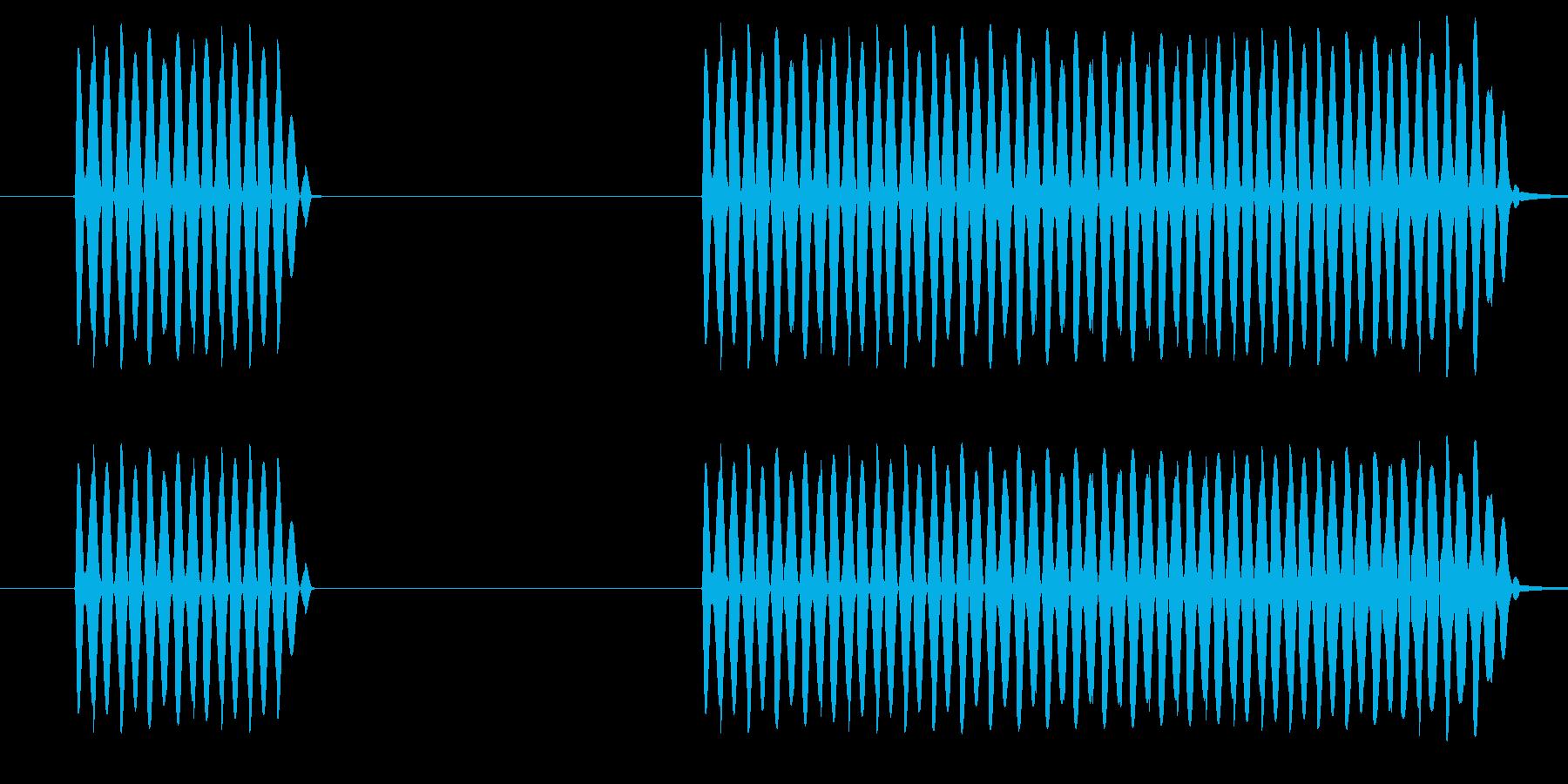 ゲーム、クイズ(ブー音)_006の再生済みの波形